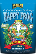 FOX FARM Guanos have been used for centuries as fertilizers for all kinds of plants. Happy Frog Cavern Culture™ Fertilizer is a proprietary blend of bat and seabird guano, rock phosphate and soil microbes that is specially formulated to deliver the nutrition neces
