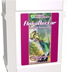 GENERAL HYDROPONICS FloraNectar® contains all natural raw cane sugar, molasses, malt syrup, select plant-based esters, L-amino acids, organic acids, vitamins and essential minerals. This unique blend of ingredients helps your plants regulate enzymes that trigger specific rea