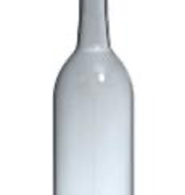 LD CARLSON This Flint Bordeaux wine bottle is versatile & sturdy. It was proudly made in the USA & features a flat bottom and 28mm screw top finish.<br /> Bottle Specs:<br /> Bottom: Flat Bottom<br /> Height: 11.438 in<br /> Width Base: 2.992 in<br /> Weight: 14.25 oz<br /> Label Panel: 5.922 in<br /> Unit