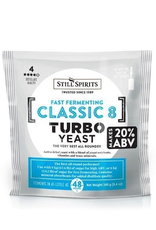 bsg Still Spirits Turbo Yeast Classic 8 (48 hour) uses a mix of yeast nutrients and dry distiller's yeast that are designed for rapid fermentations that create high alcohol content.