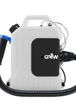DL WHOLESALE GROW1 Electric Backpack Fogger ULV Atomizer 2.5 Gallon The Grow1 ULV Electric Atomizer utilizes a high-power motor and superior design to bring high efficiency in uniform droplet size, long spray range, reliability, and overall durability. It is specially