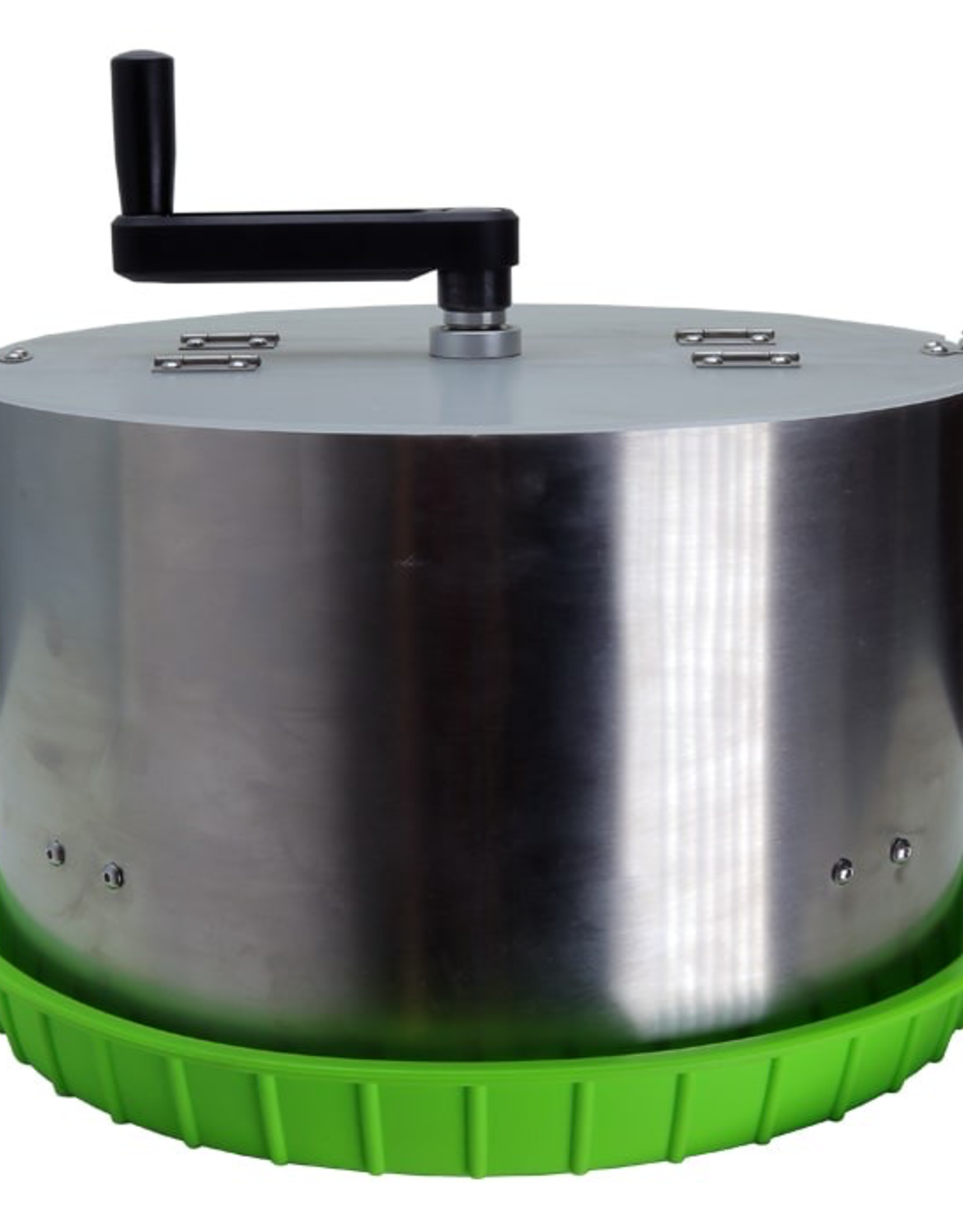 "DL WHOLESALE 16"" Crankit Dry & Wet Precision Bowl Trimmer<br /> 16-inch commercial grade precision trimmer machine featuring a stainless-steel cylinder body with CNC center grate 5/16'' slot and premium solid metal gearbox. Compatible with both wet and dry material. Built w"