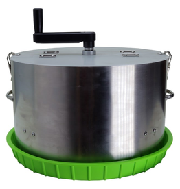 """DL WHOLESALE 16"""" Crankit Dry & Wet Precision Bowl Trimmer<br /> 16-inch commercial grade precision trimmer machine featuring a stainless-steel cylinder body with CNC center grate 5/16'' slot and premium solid metal gearbox. Compatible with both wet and dry material. Built w"""