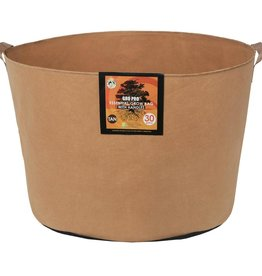 GRO PRO The Gro Pro® Essential Round Tan Fabric Pots with handles are the same great quality as the black pots, but in tan color. The Gro Pro® Essential Round Tan Fabric Pots are constructed from high-quality non-woven fabric. This fabric provides great support,