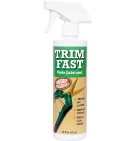 HYDROFARM Trim Fast Blade Lubricant is ideal for use on snips, shears, and automated trimmers—anywhere a food grade lubricant belongs. Safe for use with live plants. Your cuttings will benefit from a clean blade surface that reduces the risk of infection and shock.