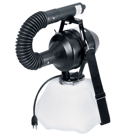 Hudson Product Details<br /> FOG Electric Atomizer Sprayer<br /> Ultra Low Volume Mist for Indoor/Outdoor Use<br /> <br /> • Adjustable output of 1.5-14 gallons per hour<br /> • Includes large commercial coiled hose for directing ULV chemical mist<br /> • Operates on 110V AC power<br /> • Lightweight po