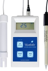 BLUE LAB The Bluelab® Combo Meter Plus is an all-in-one, convenient portable solution for accurate measurement of pH, conductivity and temperature in nutrient solution. The battery-powered, lightweight unit can be used anywhere, anytime to measure critical paramet