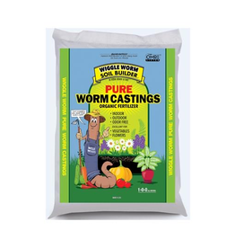 Wiggle Worm Wiggle Worm Soil Builder PURE Worm Castings are an organic fertilizer that, because they are pure, when a small handful is added during transplant you could see plants that are 3 times larger and more fruitful. This makes it extremely cost effective.<br /> <br /> Wig
