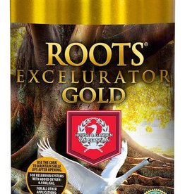 HOUSE & GARDEN House & Garden Roots® Excelurator Gold is for soil, coco and peat applications. The world-famous Roots® Excelurator with its well-kept secret formula, is used for cuttings, seedlings and plants in the vegetative and early flowering stages.