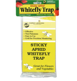 SEA BRIGHT The Sticky Whitefly Traps do the following things: Protect plants from Whiteflies, Aphids and other flying insects. Last all season, even in rain, until completely coated with insects. Non-poisonous and easy to use.