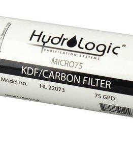 HYDROLOGIC KDF/Catalytic Carbon Pre-Filter reduces iron, sulfur, chlorine, chloramines and heavy metals. The pre-filters double the filter life. Great for city or well water! Bacteriostatic qualities do not allow microbes to breed in filter. #728772 is 20 in x 2.5 i