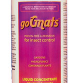 HYDRO ORGANIC goGnats is a poison-free alternative for the control of soil-fungus gnats, mites, aphids, moths, and other garden and hydroponic pests. goGnats liquid may be used as a plant and area spray, added to nutrient reservoirs or used as a soil drench. For hydrop