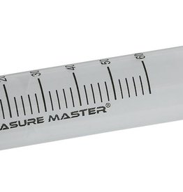 MEASURE MASTER The Measure Master® Garden Syringes are great for measuring nutrients, supplements and pesticides. These syringes are a clean and accurate alternative to pouring liquids into a measuring cup or spoon. Using the Measure Master® Garden Syringes eliminates s