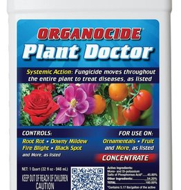 Organocide Organocide Plant Doctor™ Systemic Action Fungicide is a broad-spectrum control of most plant diseases such as root rot, stem blights, leaf spots, bacterial diseases and is even effective on troublesome and difficult to control fungal diseases such as pyth