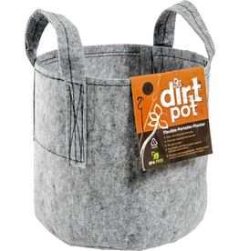 HYDROFARM Dirt Pot Flexible Portable Planter, 15 Gallon, with handles     <br />SKU: HGDB15   <br />Suggested Retail: $6.95<br /><br /> <br /><br />Lightweight and reusable, Hydrofarm's Fabric Planters offer value and versatility to all gardening enthusiasts. Made from porous breathable fabric,