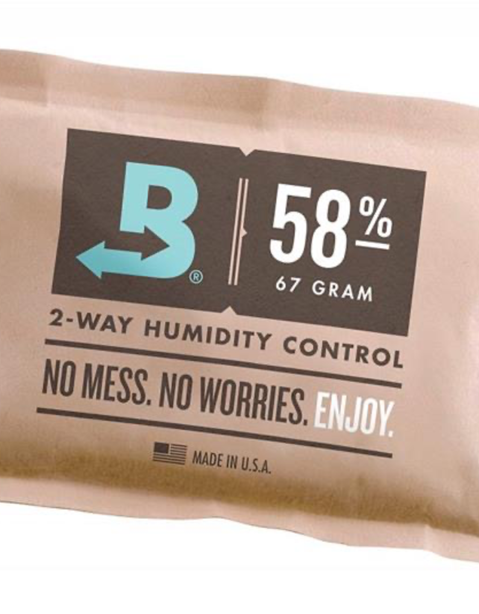 Boveda Boveda's patented 58% humidity control packs regulate moisture content, keeping the contents of your containers at the perfect desired level. They don't need any activation or maintenance. Just place them in an airtight container with your items and Boved
