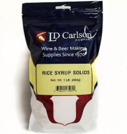 LD CARLSON Rice solids are used to lighten beer and add body, rice flavor and fermentable sugars.