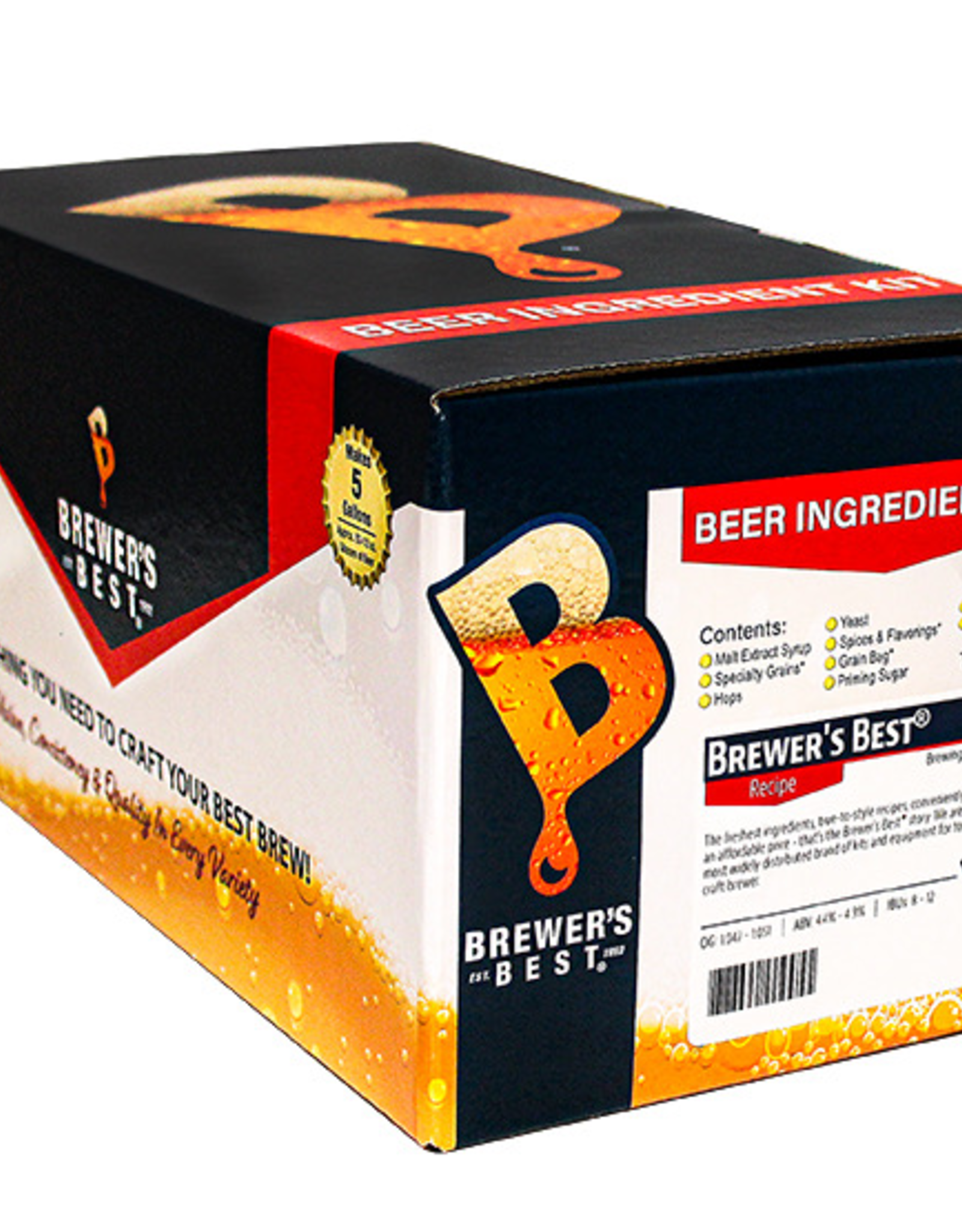 BREWERS BEST A medium-bodied brew with malty character surrounded by a nutty aroma. Maris Otter is the perfect complement to the UK hops.