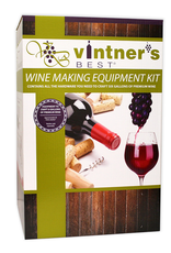 WINE EXPERT Contains: 7.9 Gallon Fermenter with Drilled & Grommeted Lid 6 Gallon PET Carboy Liquid Crystal Thermometer Easy Clean No-Rinse Cleanser Double Lever Corker Premium Corks (30ct) Mix-Stir Triple Scale Hydrometer Econolock Drilled Rubber Stopper 5 ft Siphon