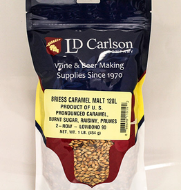 BRIESS Gives a pronounced to sharp caramel flavor and a deep red color. Typical Color L: 120 Flavor contributions: pronounced caramel, burnt sugar, raisiny, prunes