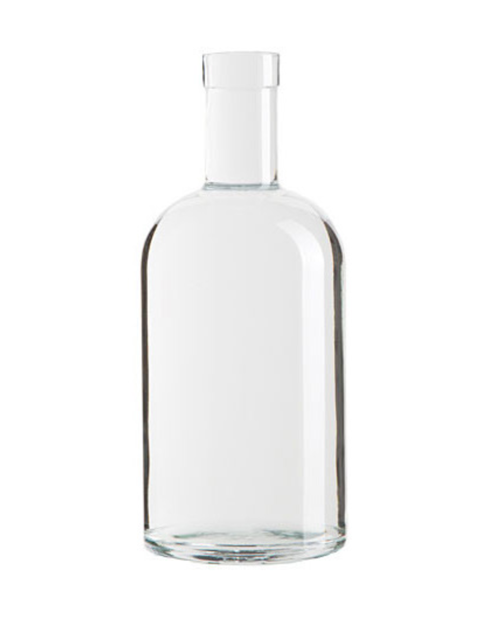 LD CARLSON Accepts 21.5mm diameter cork.<br /> Bottle Specs:<br /> Color: Flint<br /> Style: Round<br /> Finish: Bartop<br /> Bottom: Flat Bottom<br /> Height: 8.65 in<br /> Label Panel: 4.236 in<br /> Unit Pack Size : 12 Bottles Per Case