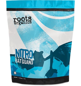 AURORA INNOVATIONS Roots Organics Nitro Bat Guano is an excellent source of nitrogen, phosphorus, and calcium. Carefully processed and sifted to make it easy to work with, Roots Organics Nitro Bat Guano encourages vigorous growth and is fast acting for quick results. All of