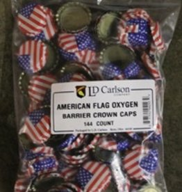 LD CARLSON AMERICAN FLAG CROWN CAPS WITH OXY-LINER