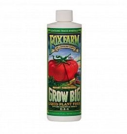 FOX FARM Grow Big, by FoxFarm, is an organic-based concentrate made up of a comprehensive blend of major, minor, and micro nutrients. Grow Big was designed to promote spectacular growth, instant green-up, larger flowers, and color intensity of blossoms. Growers fi