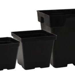 GRO PRO Gro Pro Black Plastic Pot 3.5in x 3.5in x 3in