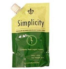 SIMPLICITY SIMPLICITY BLONDE BELGIAN CANDI SYRUP (0 LOVIBOND) 1 LB POUCH