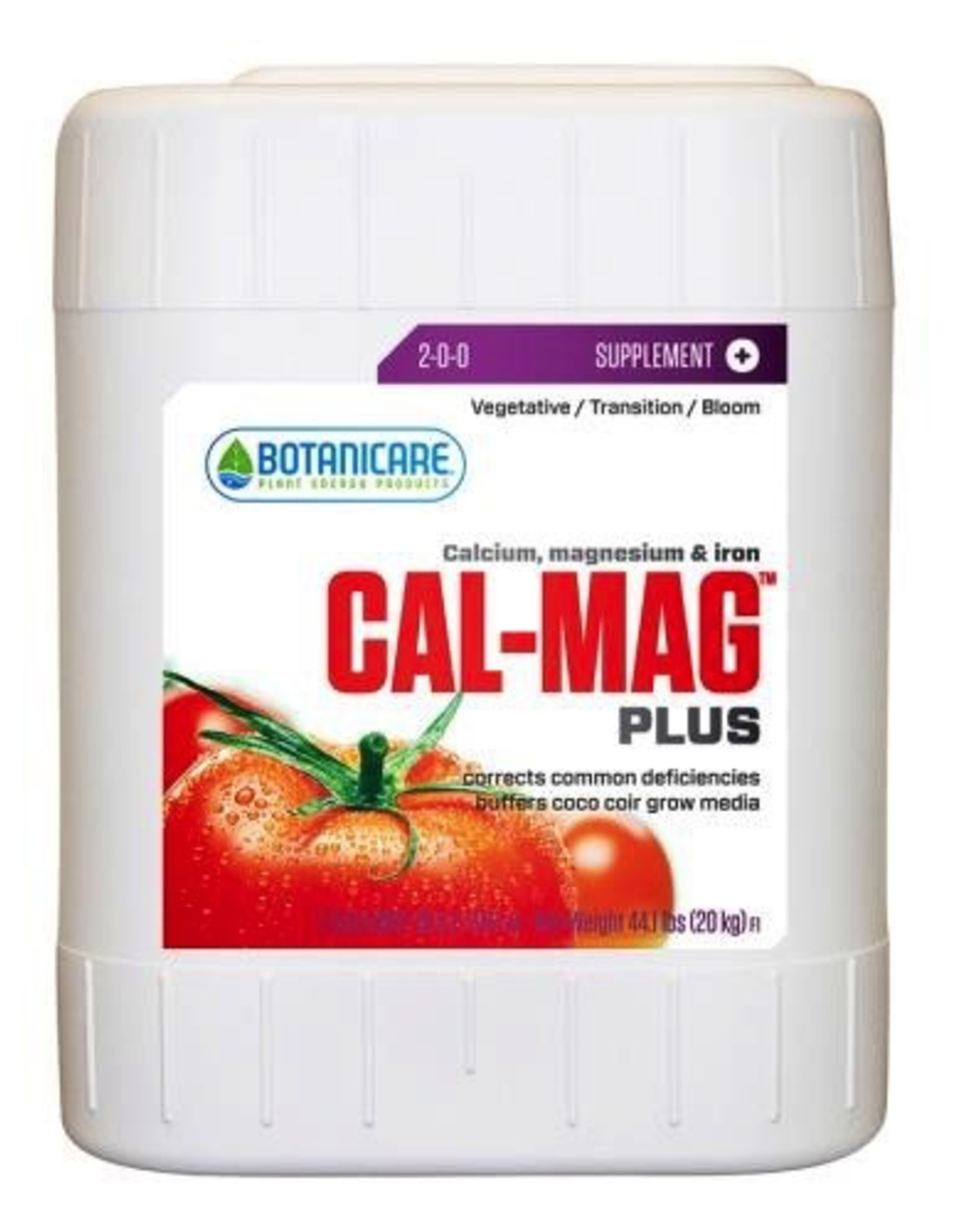 BOTANICARE Cal-Mag Plus™ is a bio-catalyst for plants. A beneficial plant nutrient correcting the inherent problem of calcium, magnesium and iron mineral deficiencies found in most soil fertilizers and some hydroponic nutrient liquid concentrated formulas.