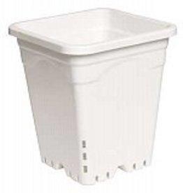 "HYDROFARM 12"" x 12"" Square White Pot, 12"" Tall, case of 24"