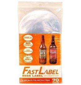 Fast label FastLabel 12oz Beer Label (70 pack)
