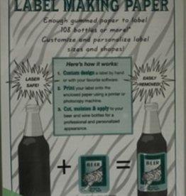 LD CARLSON GREEN LABEL-MAKING PAPER PK/18
