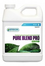 BOTANICARE PURE BLEND™ PRO is a hydro-organic vegetative and fruit and flower formula which is a specialty custom blend of organic and natural sources of the essential major, secondary, and trace minerals in 100% soluble form from the land and sea. PURE BLEND™ Pro p