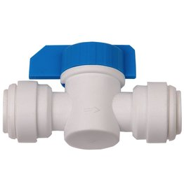 HYDROLOGIC HydroLogic Quick Connect Inline Shut off Valve, 1/4""