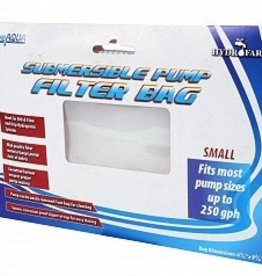 ACTIVE AQUA Zip pump in the submersible bag to prevent clogging. Increases pump life while reducing cleaning maintenance.<br /> <br /> ● Zipper <br /> ● Fine Mesh<br /> <br /> Fits most pump sizes up to 250 GPH