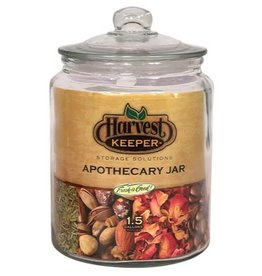 Harvest Keeper Harvest Keeper Glass Storage Apothecary Jar w/ Sealed Lid 1.5 Gallon