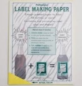 LD CARLSON YELLOW LABEL MAKING PAPER