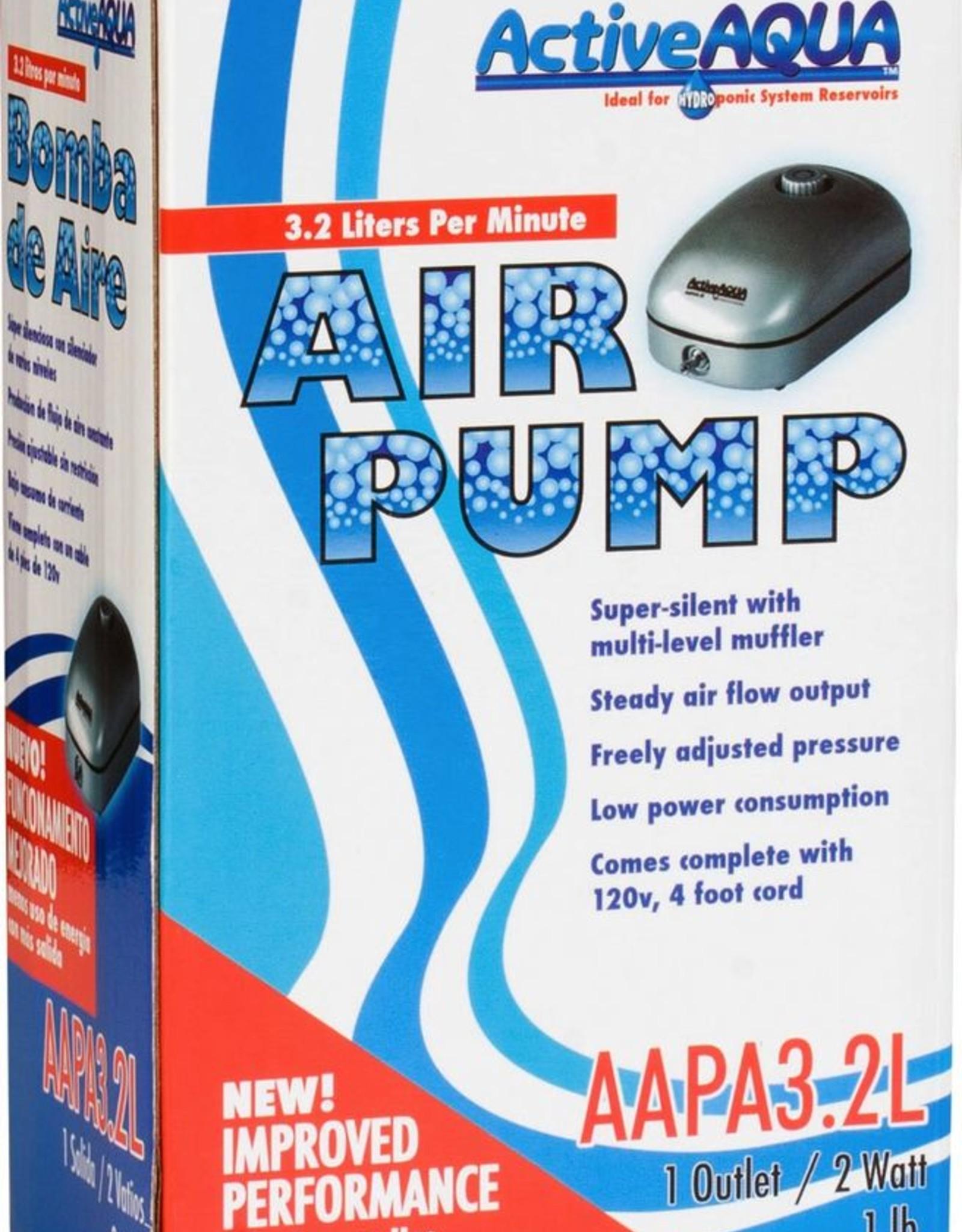 Active Aqua Air Pump 1 Outlet 2W 3.2L/min