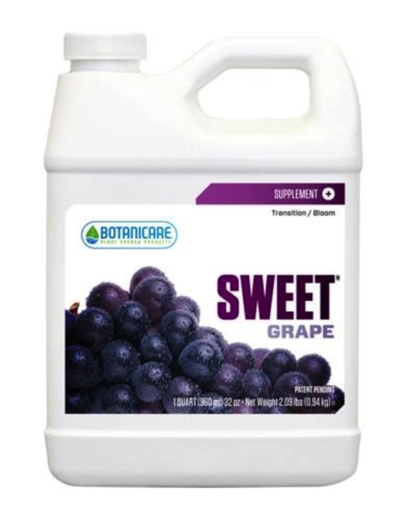 BOTANICARE SWEET GRAPE, the newest addition to the original line of flavored carbohydrate additives, equals its predecessor's performance by supplying plants with the vital energy they need during their entire growth cycle. Sweet Grape contains select carbohydrates,