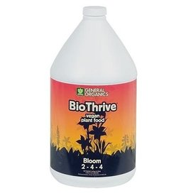 GENERAL ORGANICS BioThrive Bloom offers flowering and fruiting plants essential nutrients for superior blooms and bountiful harvest. The pure and natural vegan formulation, concieved from plant and mineral extracts, encourages beneficial microbial activity in the root zon