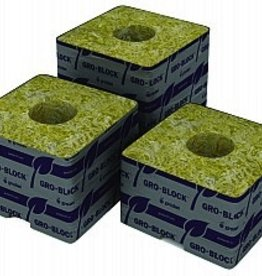 "GRODAN Gro-Blocks are similar to a 'plant container'. Need a 3"" pot? Then choose a 3"" Gro-Block. Small plants can be fully grown in our larger Gro-Blocks. Holes are perfect size for any 1.5"" starter plug. Come in packs labeled with instructions. Big Mama is Grod"