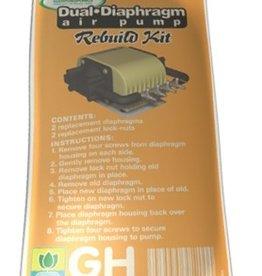 GENERAL HYDROPONICS GH Dual Diaphragm Air Pump Rebuild Kit