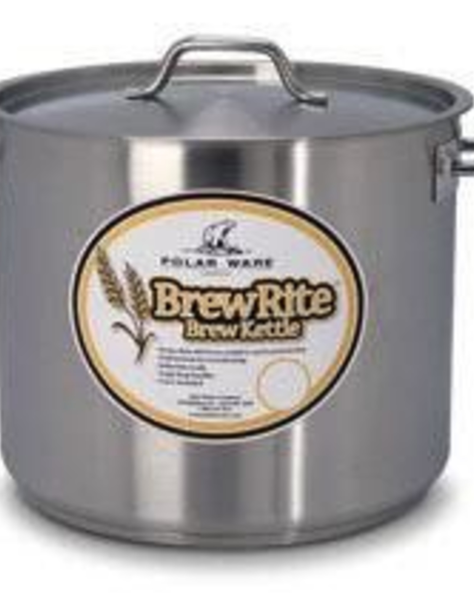 BREWRITE 40 QT BREWRITE STAINLESS STEEL KETTLE - PADDED BOTTOM PW#T5140