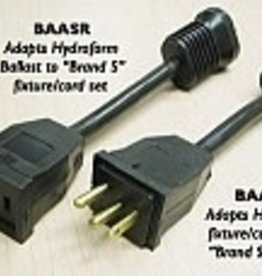 HYDROFARM BAASR ADAPTOR CORD FOR HF BAL TO SS REF