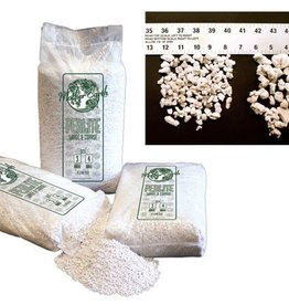 NITRON INDUSTIES Perlite is a unique volcanic mineral which expands from four to twenty times its original volume when it is heated. Perlite can reach temperatures of approximately 1600-1700 degrees F. The media's expansion is due to the presence of two to six percent com