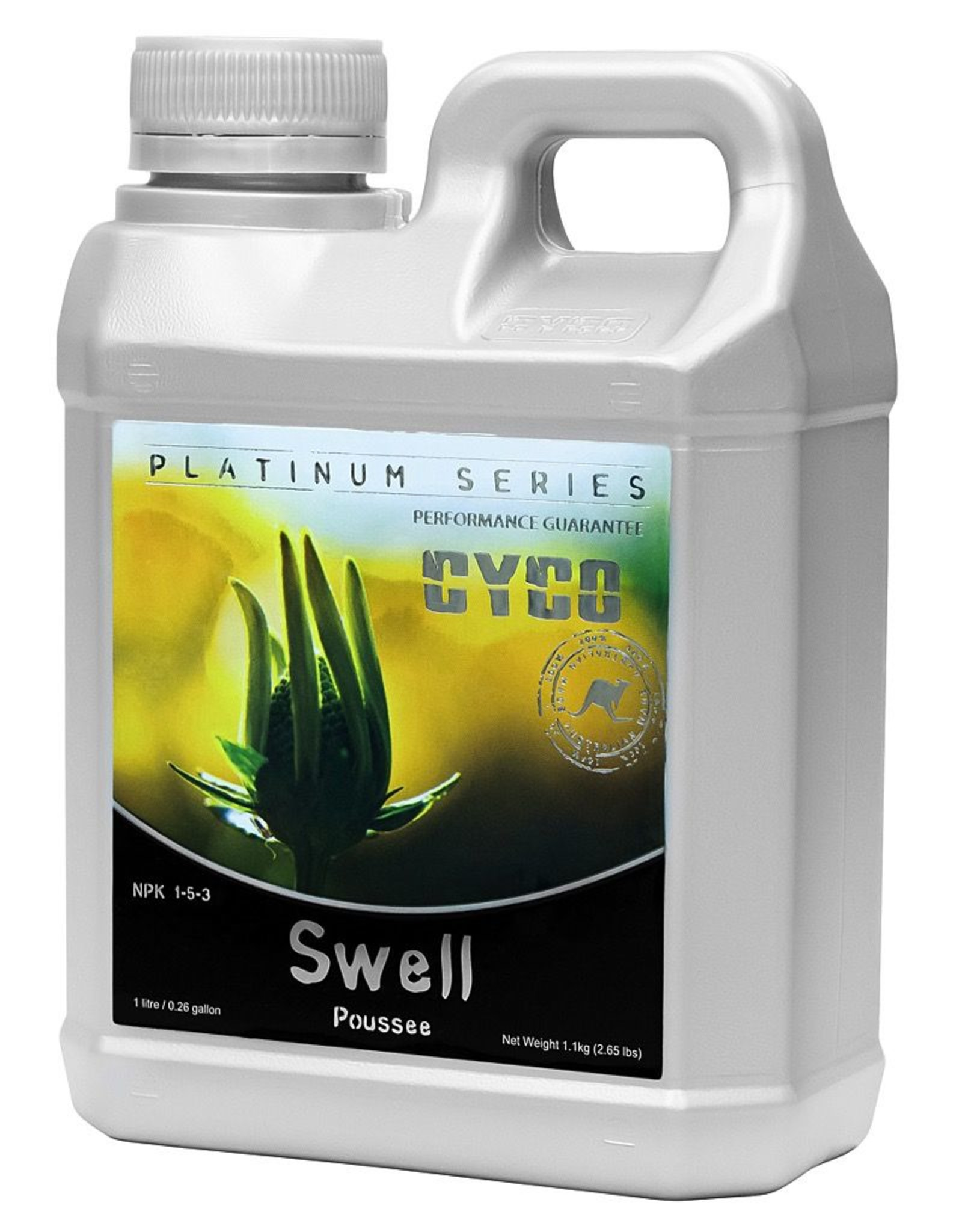 CYCO The phosphorus in Cyco Swell plays an essential part in photosynthesis, helping with plant maturation, increasing growth and encouraging blooms. It also provides a healthy dose of magnesium, which activates plant enzymes needed for robust growth. Swell is