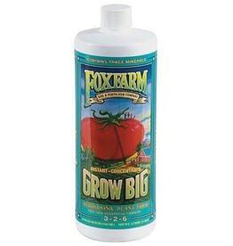 FOX FARM Grow Big Hydroponic by FoxFarm is a true one-part fertilizer. Grow Big Hydro delivers a full spectrum of micro nutrients and allows for pH adjustment without nutrient lock-up. This nutrient solution emphasizes the maximum genetic growth, flowering, and fr