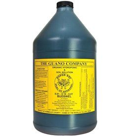 THE GUANO COMPANY For strong, multiple blooms in fruiting and flowering plants. A high phosphorous mix of bat and seabird guano plus earthworm castings. Use in soil or hydroponic applications. All organic materials; no synthetics used.<br />